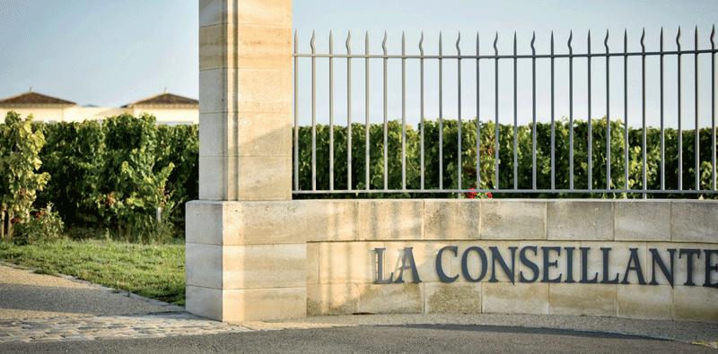 Eingang zu Château La Conseillante