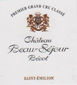 Label Château Beau-Sejour Bécot